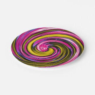 Whirlpool de la pintura plato de papel 17,78 cm