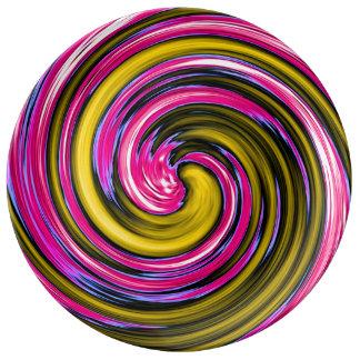 Whirlpool de la pintura plato de cerámica