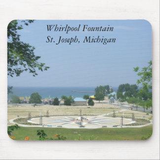 Whirlpool Fountain St. Joseph, Lake Michigan MI Mouse Pad