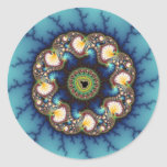 Whirlpool - Fractal Classic Round Sticker
