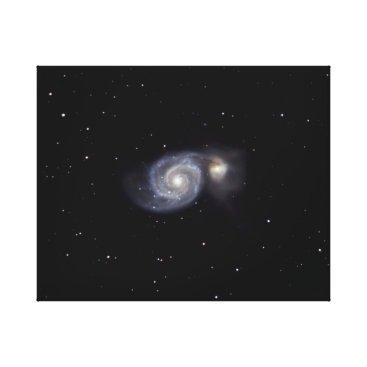 Art Themed Whirlpool Galaxy #7 Canvas Print