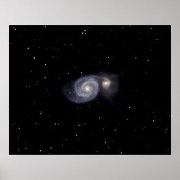 Art Themed Whirlpool Galaxy #7 Poster