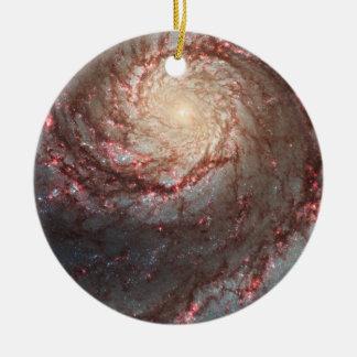 Whirlpool Galaxy Ceramic Ornament