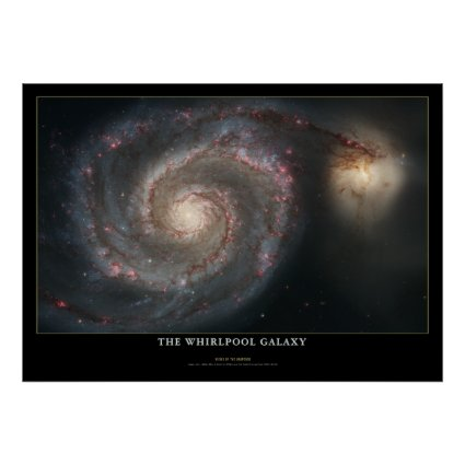 Whirlpool Galaxy Colossal Astronomy Poster