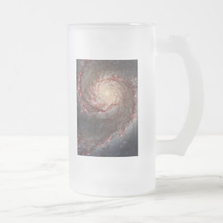 Whirlpool Galaxy Frosted Glass Beer Mug