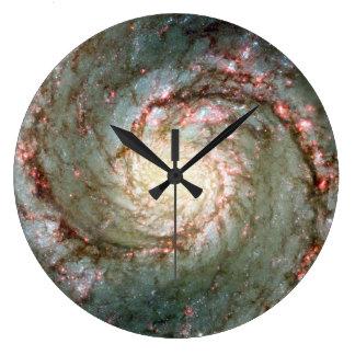 Whirlpool Galaxy Large Clock