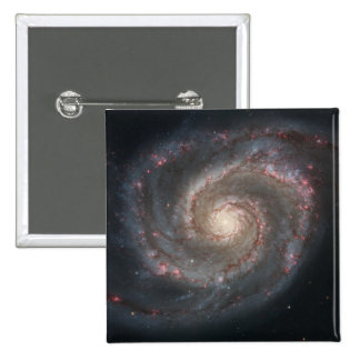 Whirlpool Galaxy (M51) 2 Inch Square Button