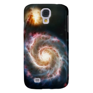 Whirlpool Galaxy (M51) and companion Samsung Galaxy S4 Case
