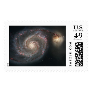 Whirlpool Galaxy (M51) and Companion Galaxy Stamp