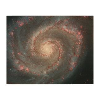 Whirlpool Galaxy (M51) and Companion Galaxy Wood Wall Art