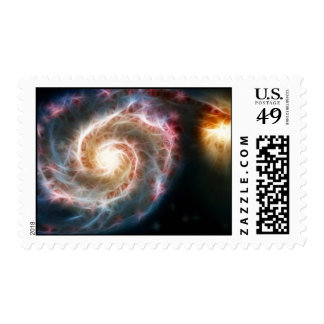 Whirlpool Galaxy (M51) and companion Stamps
