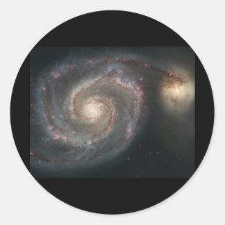 Whirlpool Galaxy (M51) Classic Round Sticker