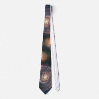 Whirlpool galaxy neck tie