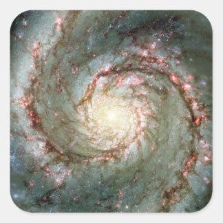 Whirlpool Galaxy Square Sticker