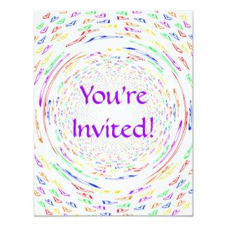Whirlpool Hearts Personalized Invitation