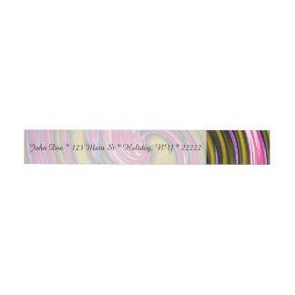 Whirlpool of Paint Wrap Around Address Label