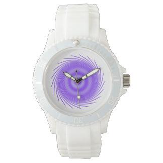 Whirlpool púrpura místico reloj