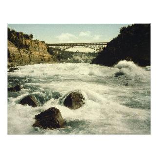 Whirlpool Rapids Niagara Falls New York 1898 Letterhead Template