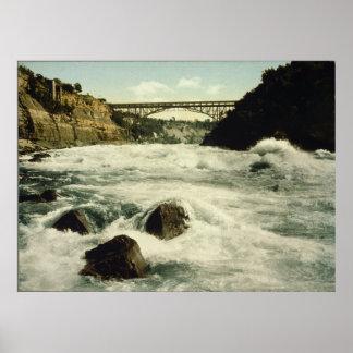 Whirlpool Rapids Niagara Falls New York 1898 Poster