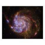 Whirlpool Spiral Galaxy as seen by Hubble Print