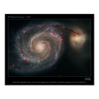 WhirlpoolGalaxy-M51-2005-12a Poster