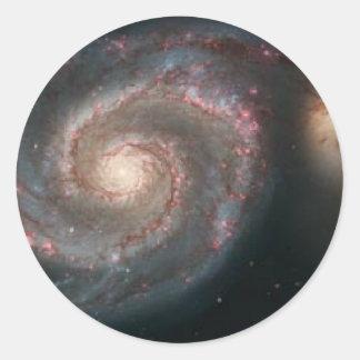 whirlpoolgalaxy pegatina redonda