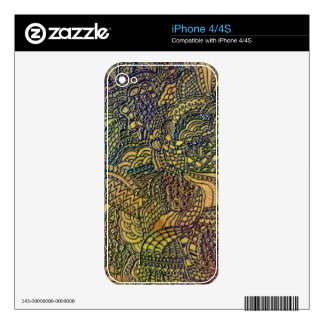 Whirls Swirls Curls and More iPhone 4S Skins