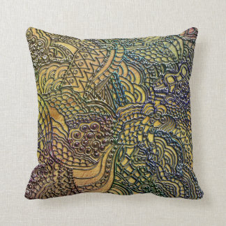 Whirls Swirls Curls and More Throw Pillow