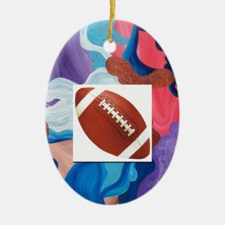 Whirlwind Football Ceramic Ornament