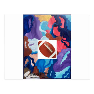 Whirlwind Football Postcard