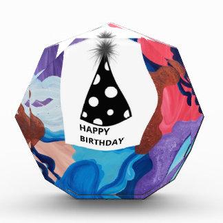 Whirlwind Happy Birthday Acrylic Award