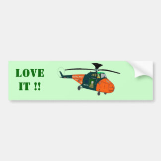Whirlwind Helicopter Bumper Sticker