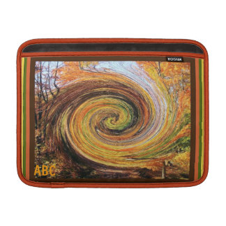 Whirlwind in a Fall Forest Mac Air Sleeve