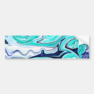 Whirlwind in Teal and Blue Abstract Bumper Sticker