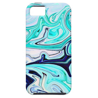 Whirlwind in Teal and Blue Abstract iPhone SE/5/5s Case