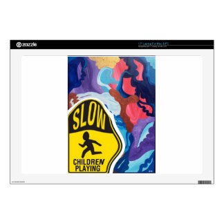 """Whirlwind Slow Children Playing 17"""" Laptop Decals"""