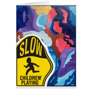 Whirlwind Slow Children Playing Card