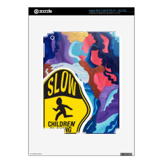 Whirlwind Slow Children Playing Decal For iPad 3