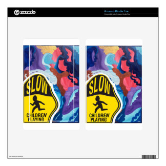 Whirlwind Slow Children Playing Kindle Fire Decal