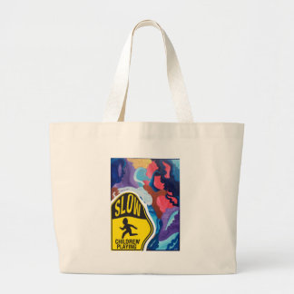 Whirlwind Slow Children Playing Large Tote Bag
