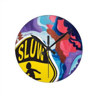 Whirlwind Slow Children Playing Round Clock