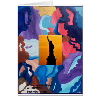 Whirlwind Statue Of Liberty Card