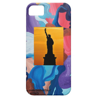 Whirlwind Statue Of Liberty iPhone SE/5/5s Case