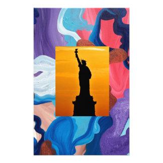Whirlwind Statue Of Liberty Stationery
