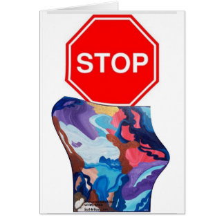 Whirlwind Stop Sign Card