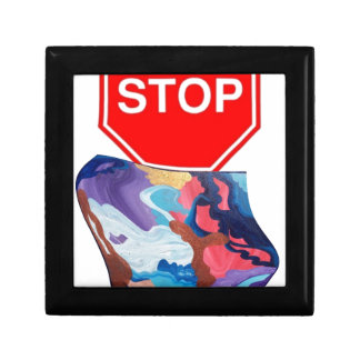 Whirlwind Stop Sign Jewelry Box