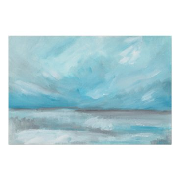 Beach Themed Whirlwind - Stormy Ocean Seascape Art Print