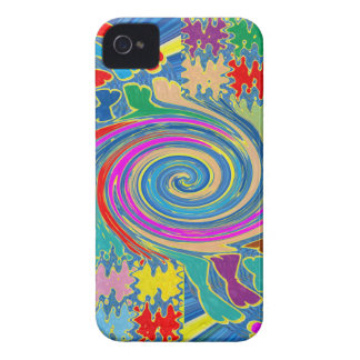 Whirlwind Waves Tornado Decorative Graphics NOVINO iPhone 4 Case