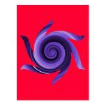 Whirly púrpura tarjetas postales
