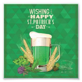 whishing le el día de un St Patrick feliz, verde, Fotografías